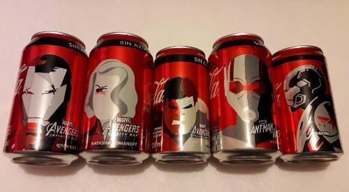 Latas coca cola edición l. avengers infinity war & end game