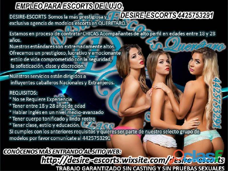 DESIRE ESCORTS SOLICITA EDECANES Y MODELOS 4425753291