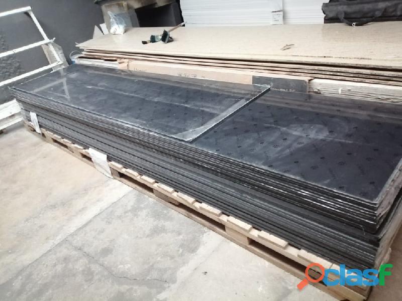 Placas de superficie sólida hanex 12mm color negro