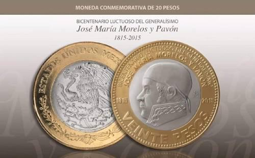 1 moneda bicentenario luctuoso generalísimo j. ma morelos
