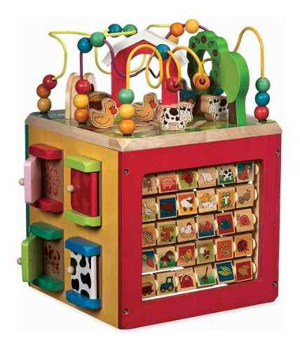 Caja de actividades animales +1 año juguete niño educativo