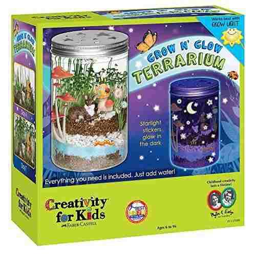 Creatividad para niños crece y resplandece en el terrario -