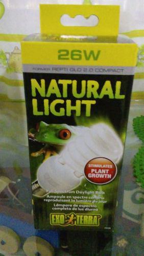 Foco exo terre reptil uvb natural light 26w reptiles anfibio