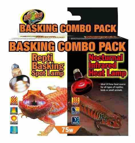 Paquete de foco calentador para reptiles zoomed 75w