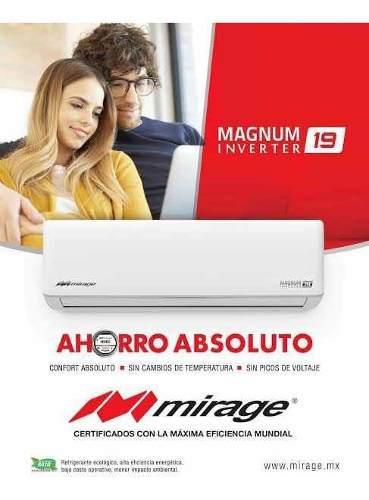 Minisplit mirage inverter 2 ton 220v, frio/calor magnum 19