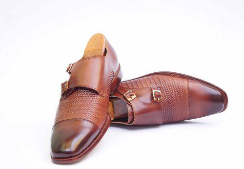 Zapatos de vestir en piel para caballero monk andre bocassi