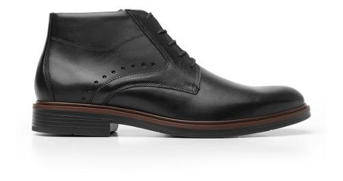 Zapatos hombre estilo botin corto vestir 400104 negro flexi