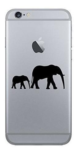 2 x serie stickany teléfono elefante silueta vinilo para ip