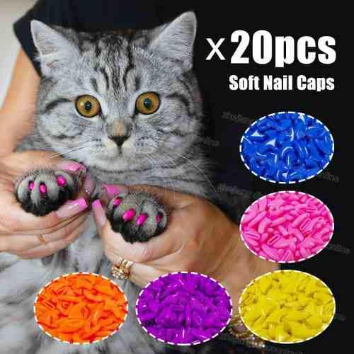 2 paquete protectores para uñas gato no mas rasguños
