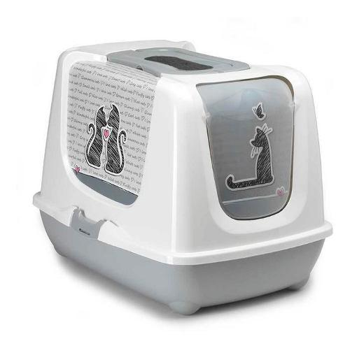 Arenero gato jumbo cerrado incluye filtro y pala antiolores