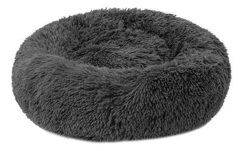 Cama de felpa redonda suave para mascotas gato de cama suave