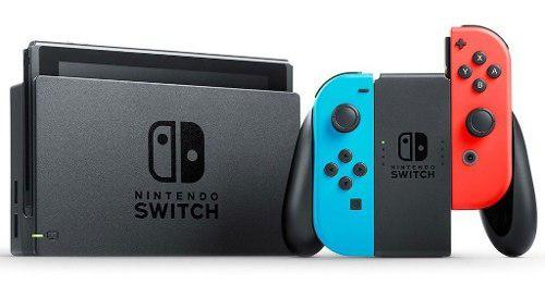 Consola nintendo switch neón 1.1 con videojuego super mario