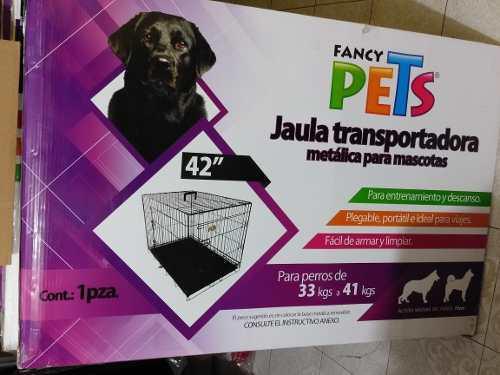 Jaula plegable para perro 42 uso ideal veterinario/ hogar