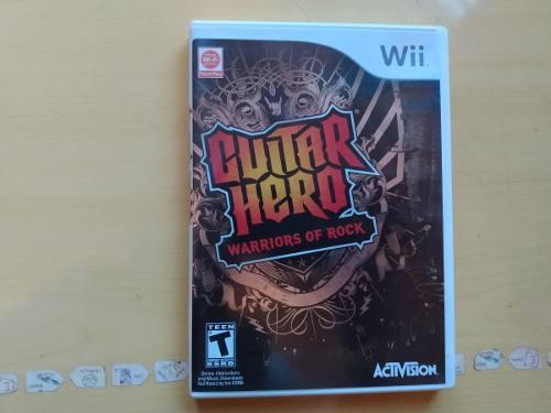 Juegos wii u y wii guitar hero warriors of rock