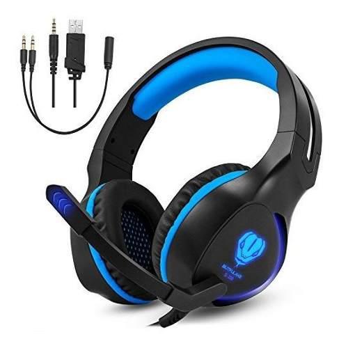 Megadream ps4 auriculares de diadema estéreo para videojueg