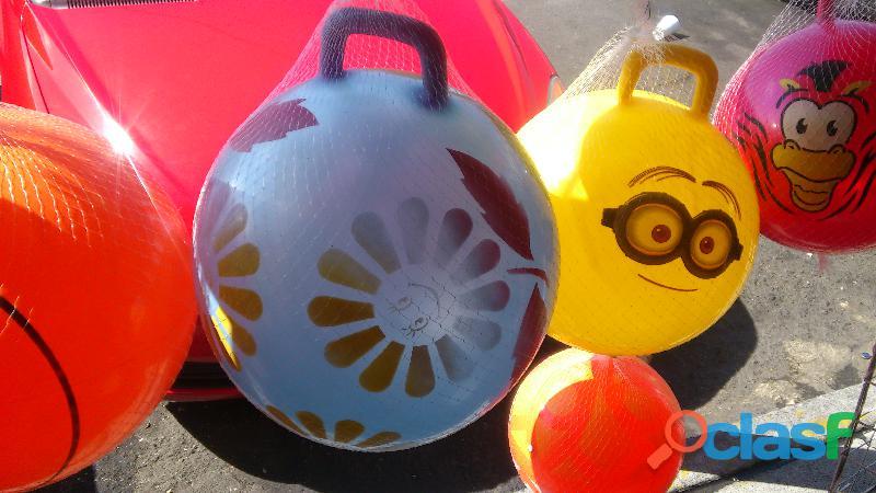 Pelotas saltarinas en varios modelos y colores
