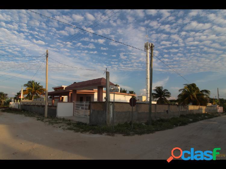 Casa chicxulub puerto | esquina | terreno 1200 m²