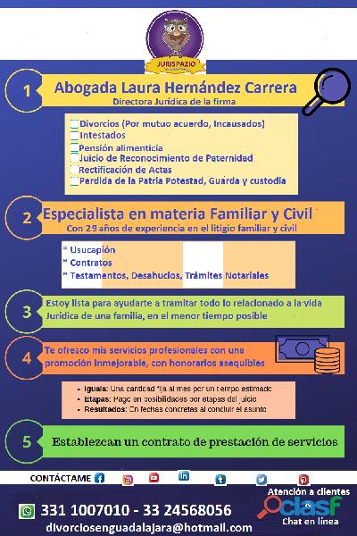 ¿Necesitas divorciarte a la brevedad? Abogada en Guadalajara