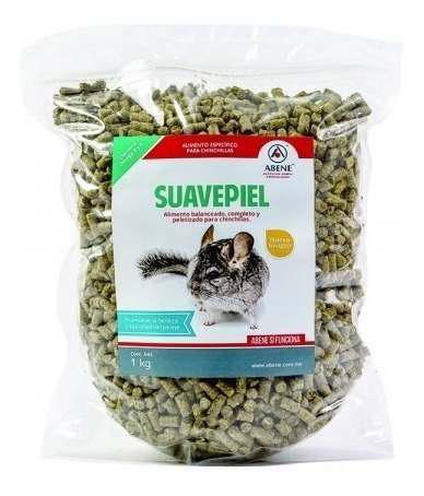 Alimento chinchilla roedores 1 kg suavepiel abene
