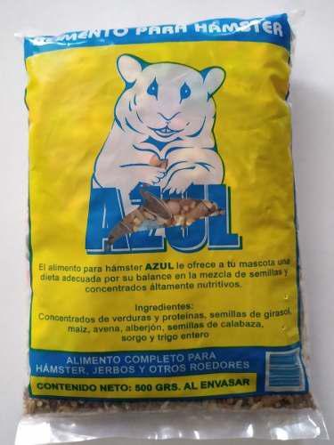 Alimento para hamster de 500 gramos roedores