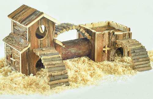 Casa de madera,animales pequeños,roedores, ratones,