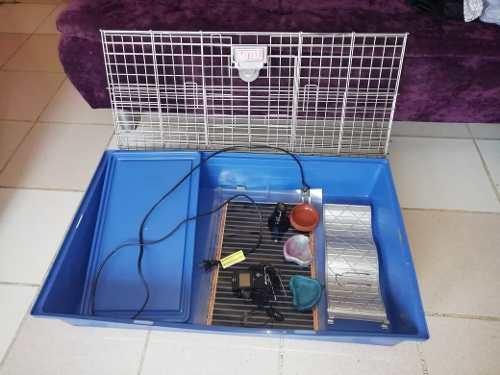 Casa para conejo/hamster/erizo de lujo con muchos accesorios