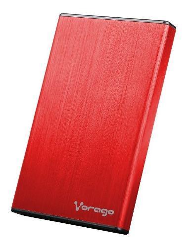Case para disco duro 2.5 hdd ssd sata usb 2.0 vorago rojo