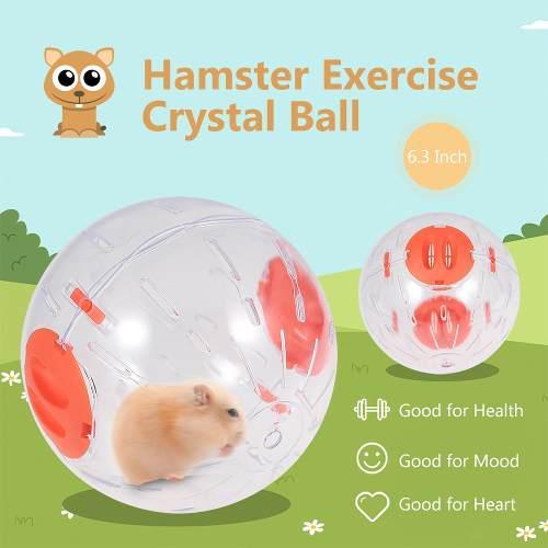 Hámster ejercicio bola hámster cristal bola 6.3 pulgadas