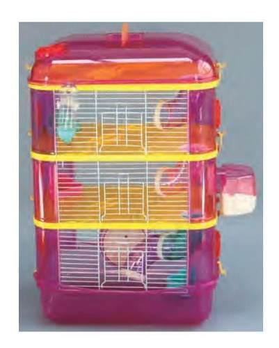 Jaula para hamster 3 pisos # 6550