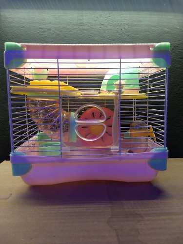 Jaula para hamster equipada medidas 35.5 x 25.6 x 33 cm