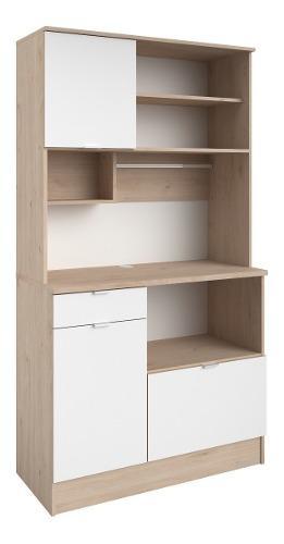 Mueble para cocina madera alacena práctica moderna blanca