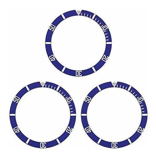 12 bezel insert aluminio para reloj rolex submariner blue 16