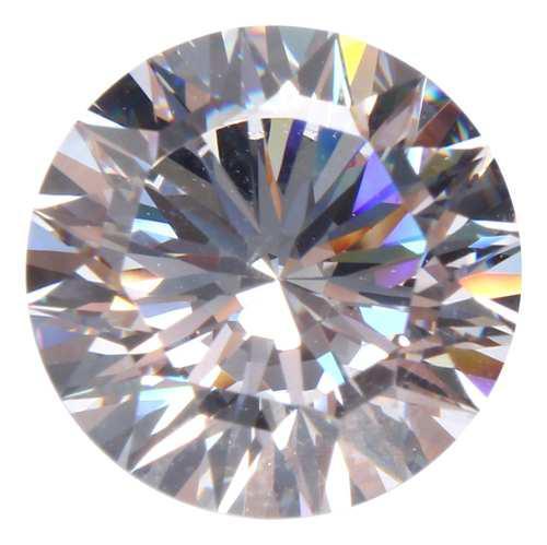 12mm aaaa + gemas de zafiro blanco 10.69ct forma redonda cor