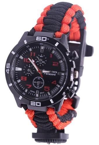 5 en 1 al aire libre supervivencia reloj paracord pulsera co