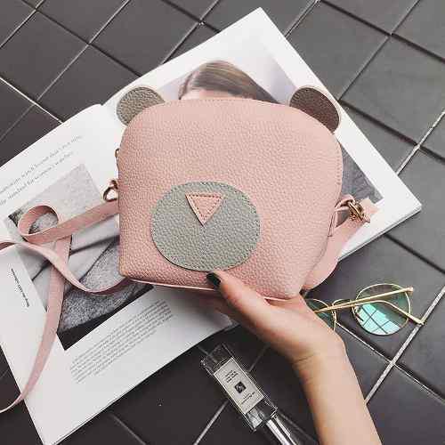 Baggra mujeres mini crossbody bolso pu cuero rosa