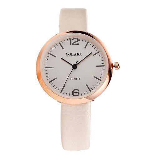 Cuarzo reloj mujeres pu cuero correa muñeca reloj casual