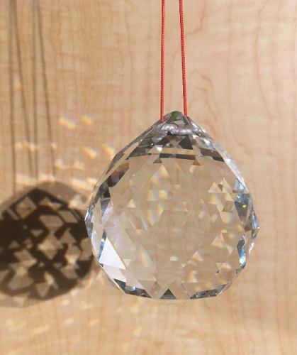 Esferas cristal facetada feng shui armonizar la energia 6 cm