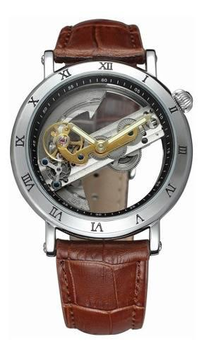 Forsining lujo esqueleto automatic mecánico hombres reloj