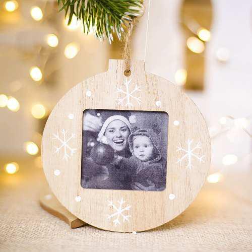 Marco de fotos personalizado para vacaciones de navidad, de