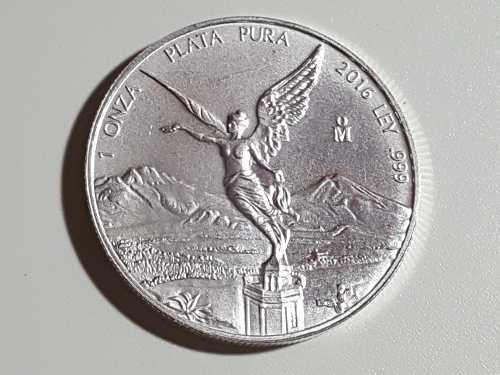 Moneda 1 onza plata libertad pura ley.999 opcion de me