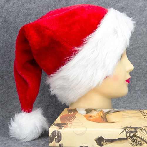 Mujer hombre navidad sombrero de santa vermelho