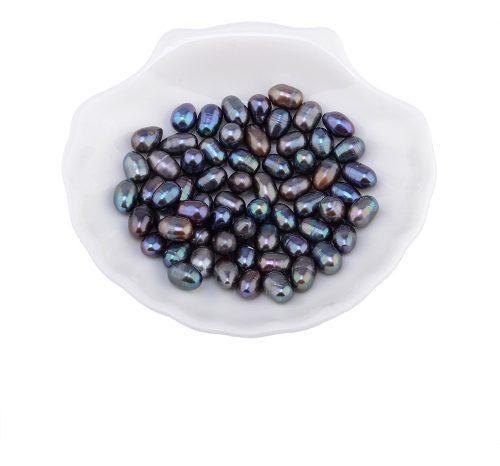 New100pc perlas sueltas de agua dulce natural de 7 a 8 mm re