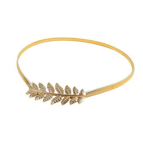Nueva moda vintage mujer cinturn elstico ouro