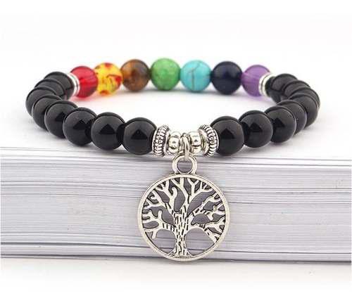 Pulsera de los 7 chakras con árbol de la vida