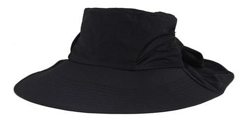 Sombrero de sol mujer plegable ala ancha con lazo verano