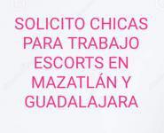 Solicito chicas para mazatlán. Trabajo de acompañantes