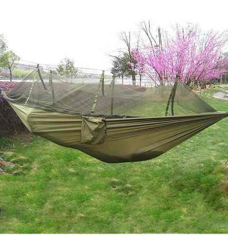 Hamaca camping colgante columpio con mosquitero ligera