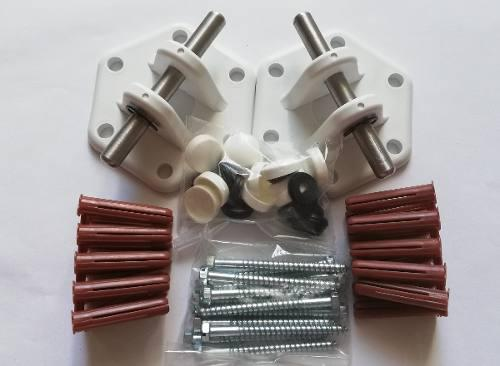 Hamaquero blanco soporte para hamacas, instalación facil