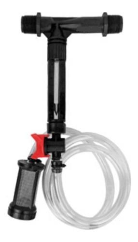 Inyector venturi 3/4 plg con kit de succion y medidor flujo
