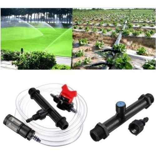 Inyector venturi de fertilizantes para sistema de riego de 1